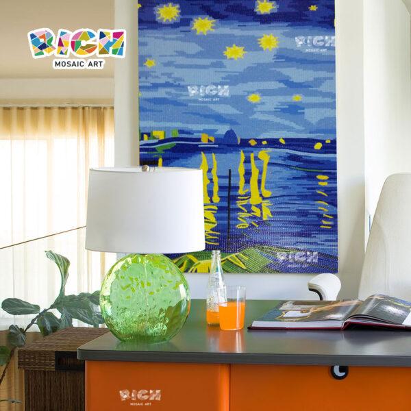 RM-OM05 verbazingwekkende nachtelijke hemel kunst muurschildering decor glas mozaïek Backsplash wand tegel