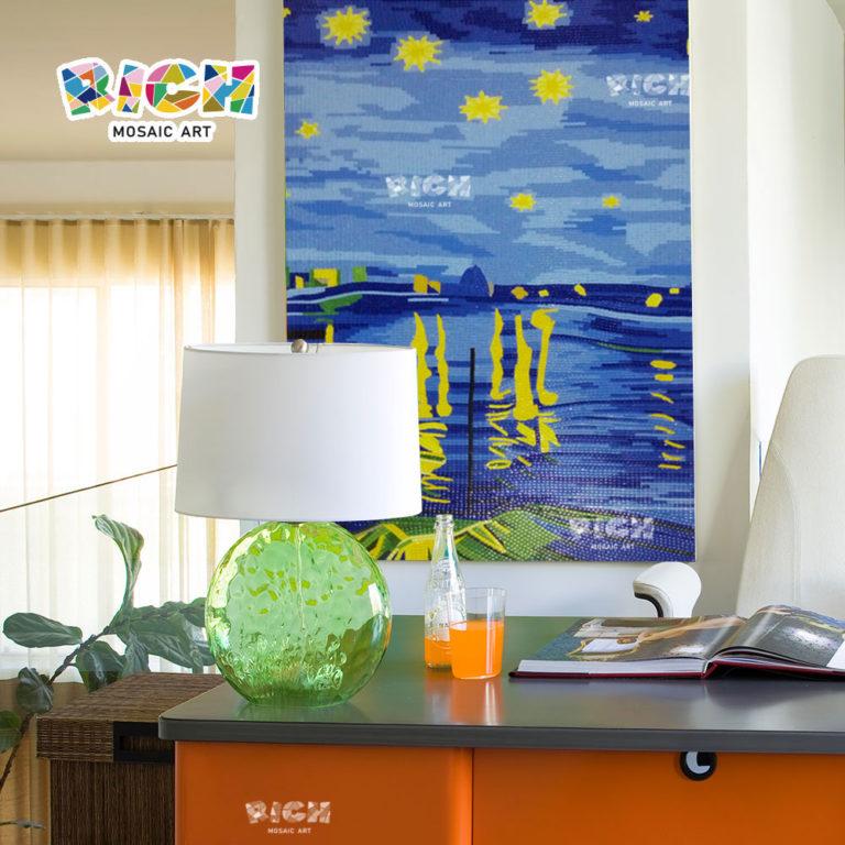 RM-AT05 Amazing Night Sky Art Mural Decor Glass Mosaic Backsplash Wall Tile