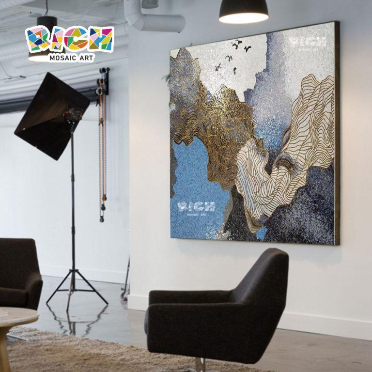 RM-AT12 vidrio arte abstracto decorativo mosaico azulejo colorido cuadro Mural