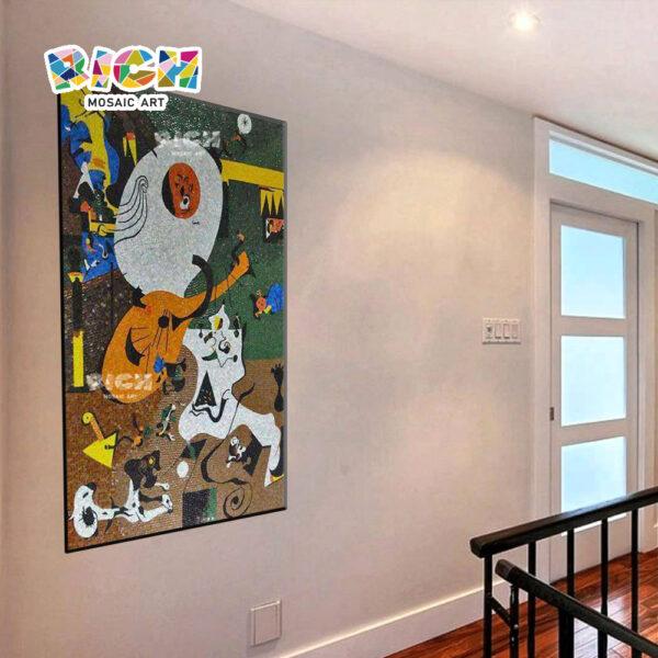 RM-ÀS19 abstrata pinturas de vidro bonito mosaico azulejos padrão de arte