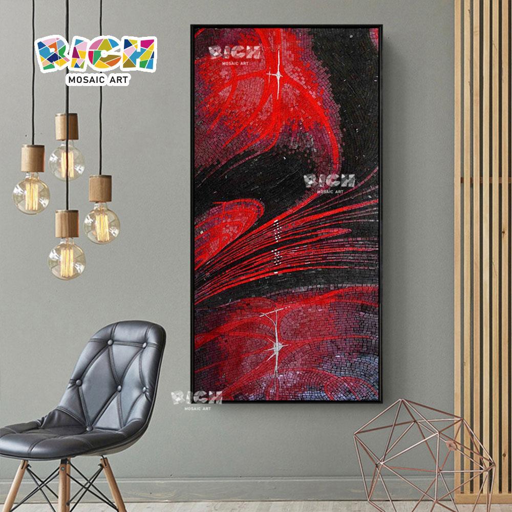 RM-AT20 Абстрактная красная стена стеклянная мозаика для гостиной