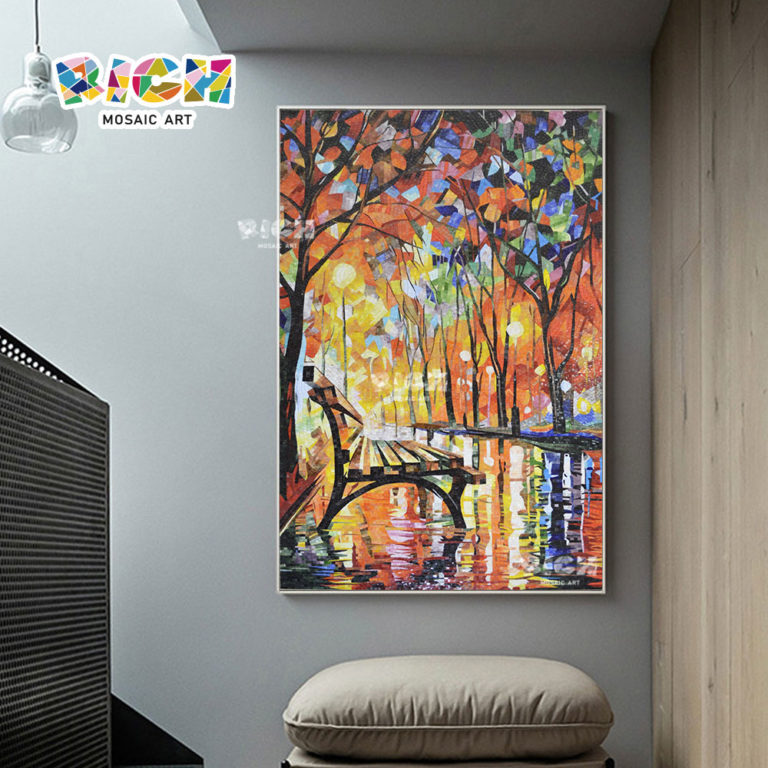 RM-AT22 Corridor Wall Mural Romantic Avenue Design Mosaic