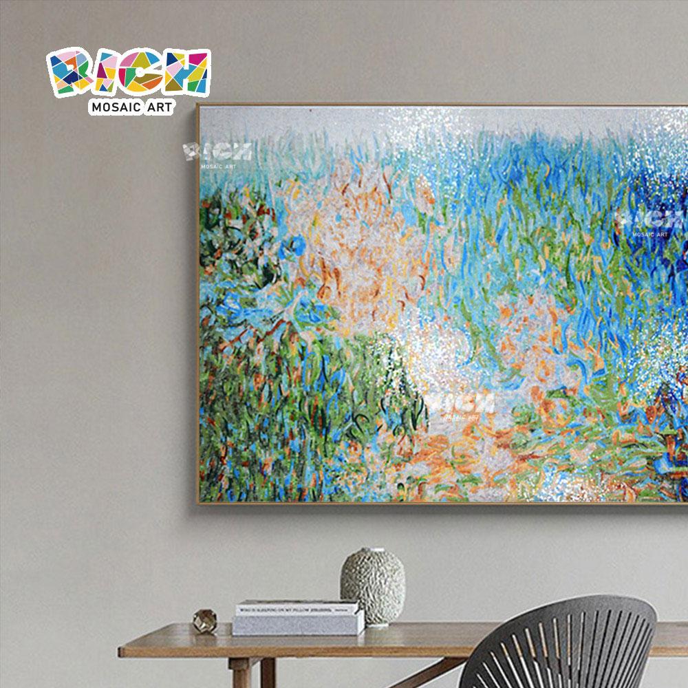 RM-AT25 murales arte abstracto pintura cuadros azulejos hechos a mano de cristal