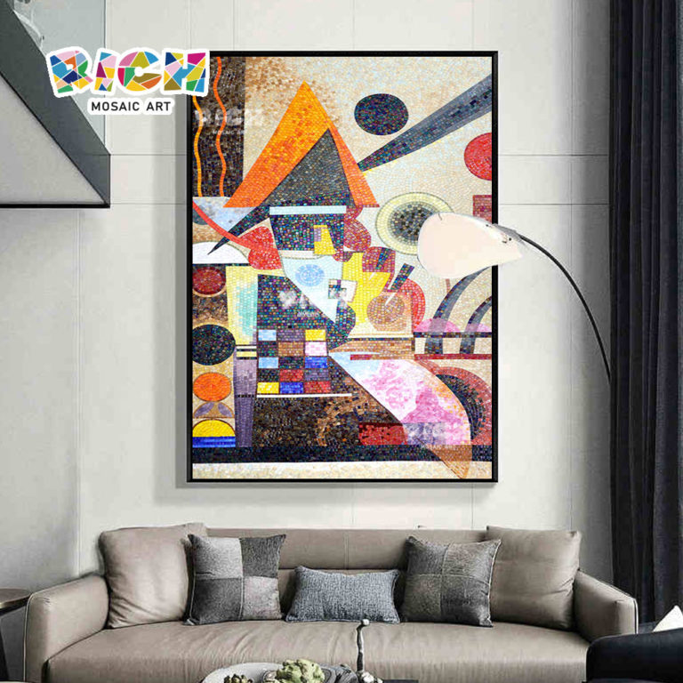 RM-AT27 Geometric Abstraction Mural Wall Idea