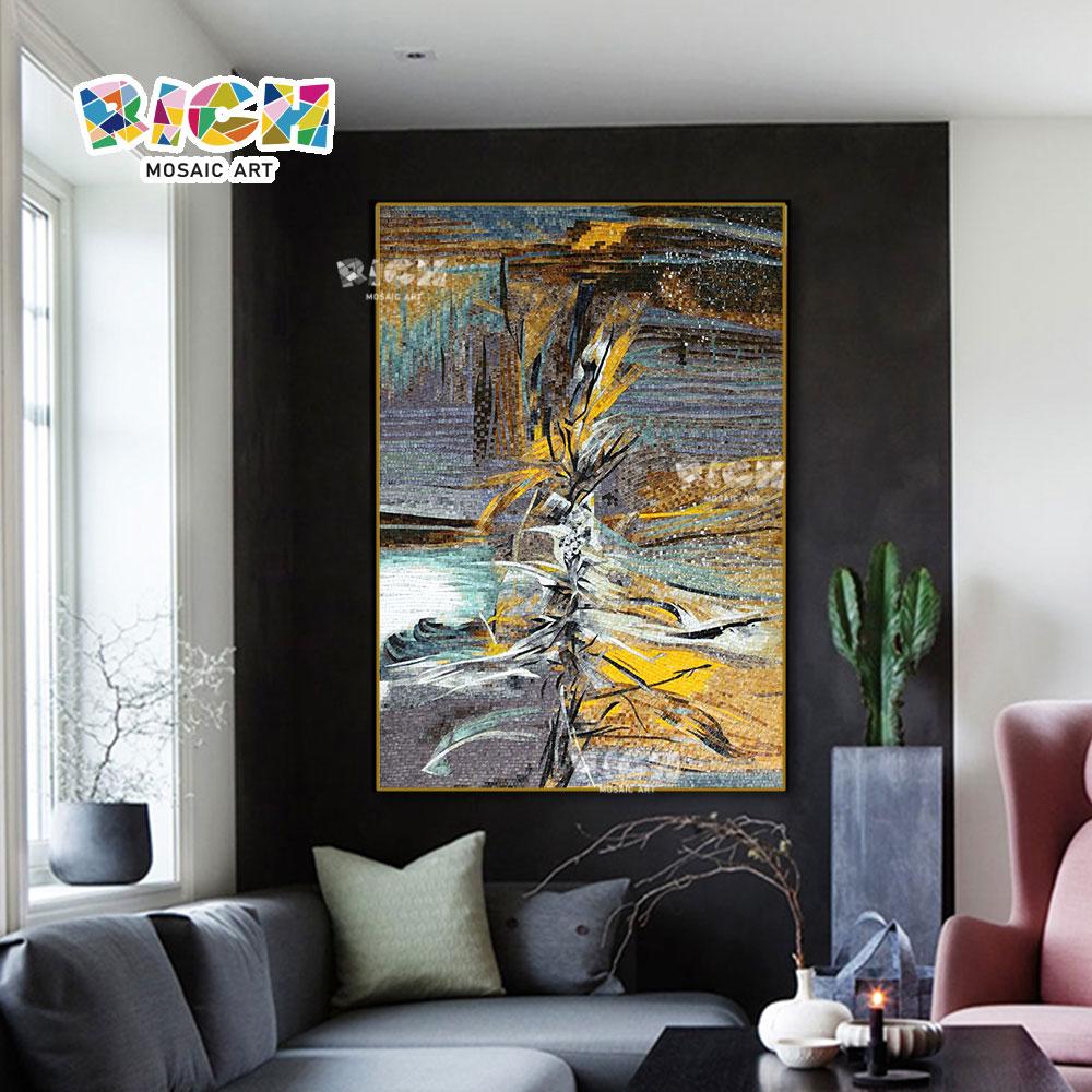 RM-AT32 woonkamer decoratieve handgemaakte Abstract mozaïek tegel grote muurschilderingen