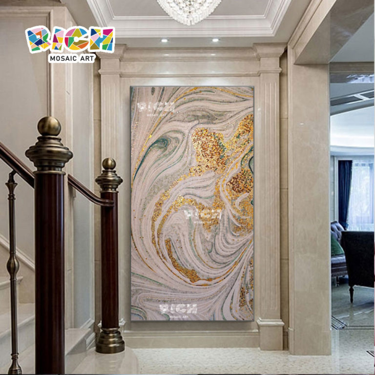RM-AT33 Luxury Abstract Art Wall Tile Unique Interior Design Mural