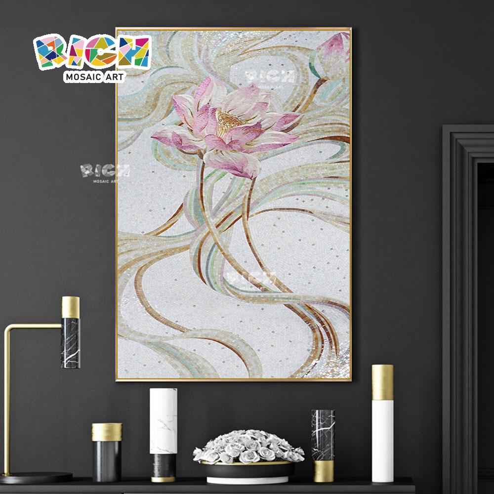 RM-FL01 loto flor patrón mosaico diseño