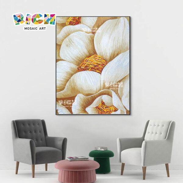 RM-FL11 Hibiscus Flower Muster Mosaik Kunst Wandbild