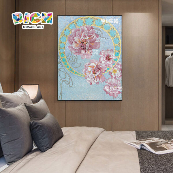 RM-FL15 dormitorio flor arte mosaico musulmán