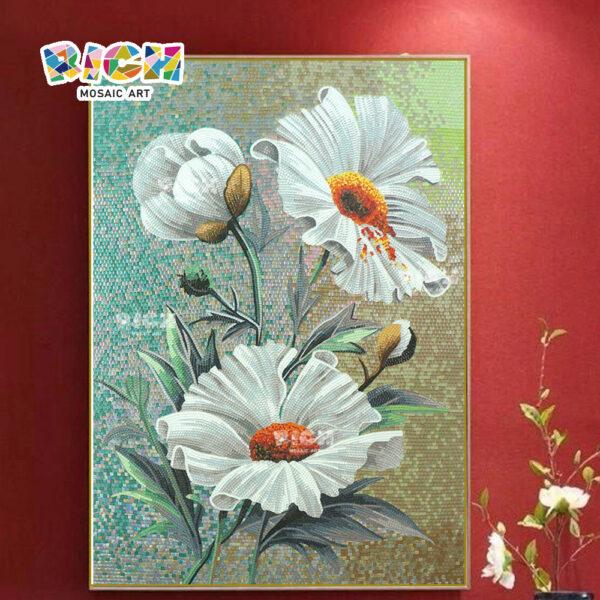 RM-FL24 crisantemo patrón azulejo de mosaico, murales