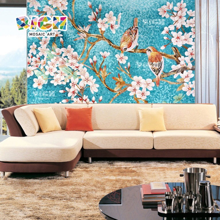 RM-FL25 Flower Picture Mosaic Pattern Decorative Mural Tile