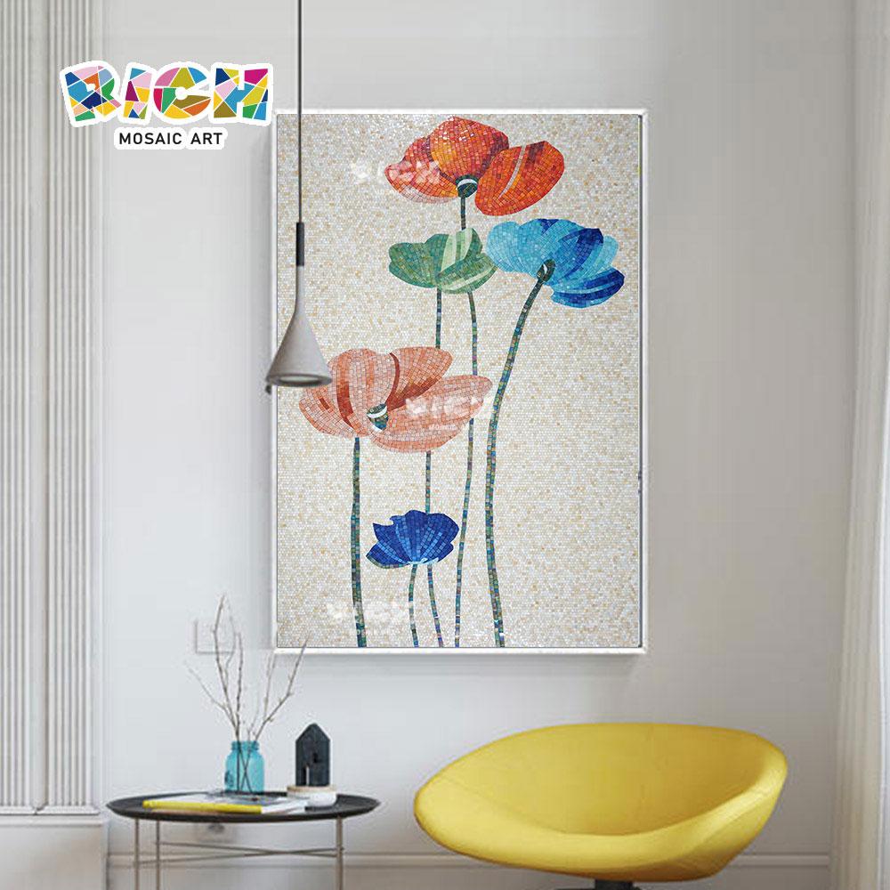 RM-FL26 μωσαϊκό λουλουδιών χρώματος Backsplash για τον εγχώριο τοίχο