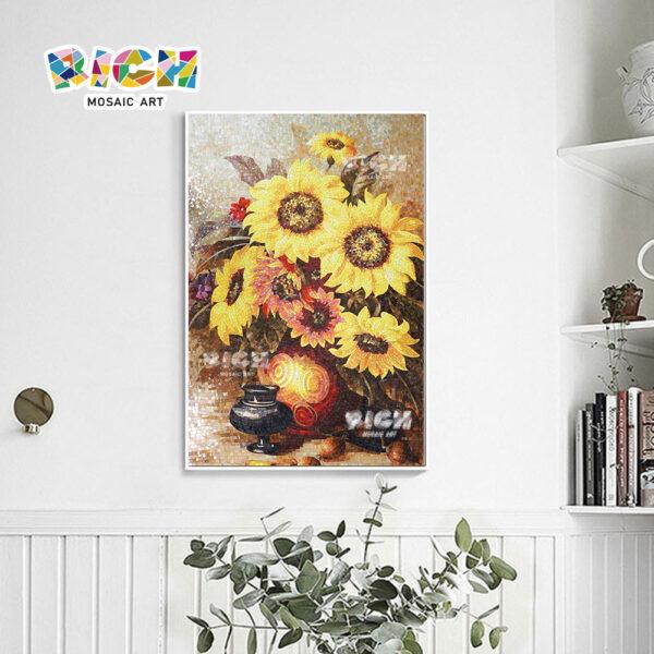 RM-FL30 mosaïque photo modèle tournesol pour la décoration de la salle de lecture