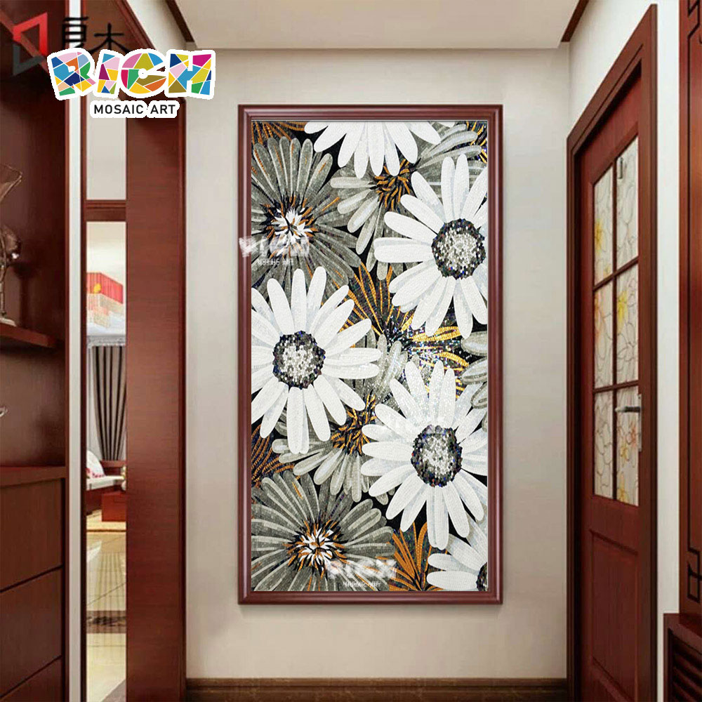 RM-FL36 Flower Pattern Wall Backsplash Corridor Mosaic