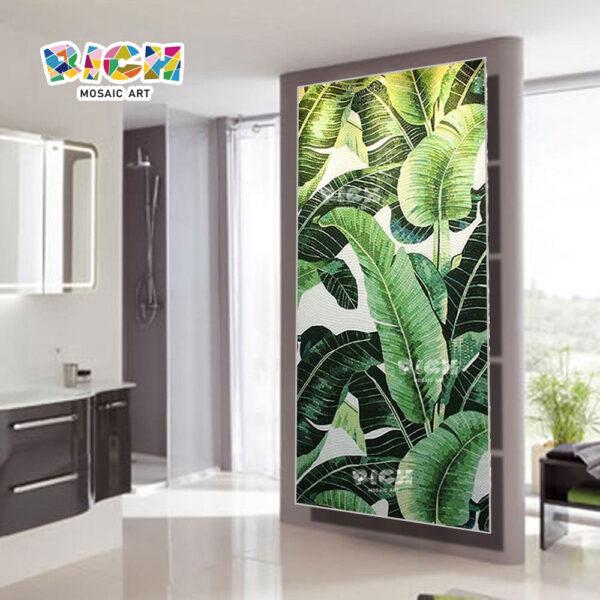 RM-FL37 зеленый лист подорожника шаблон гостиной фон стены мозаика настенная роспись плитки