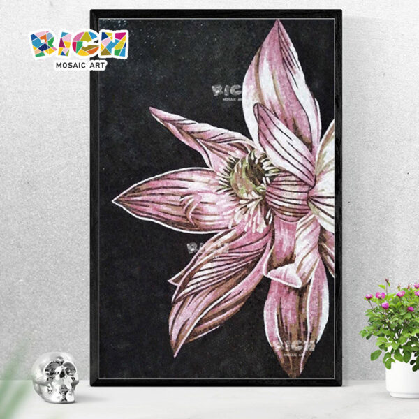 RM-FL38 Lotus Photo Glass Artwork Wall Mural