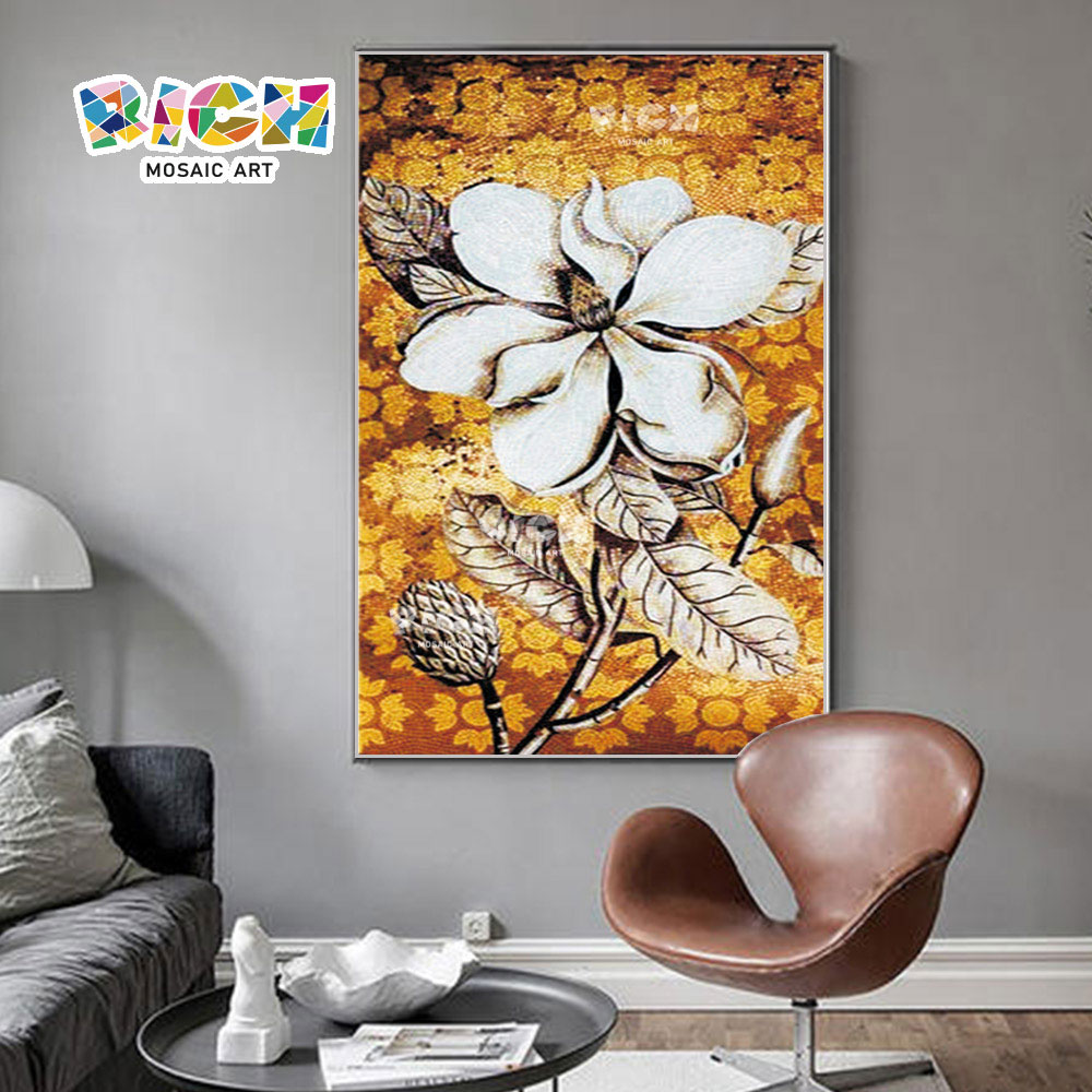 RM-FL43 Vidrio artesanal mosaico arte arte panel pared