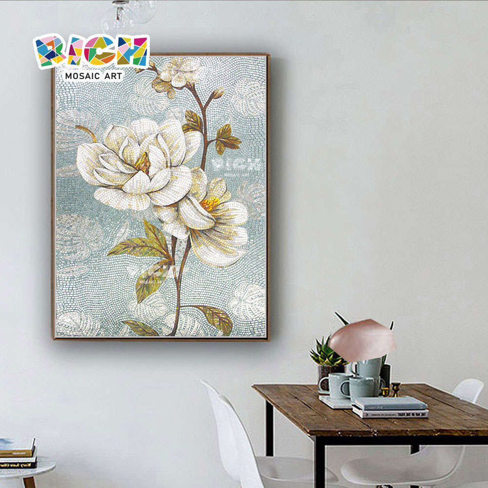 RM-FL45 Studie Raum Mosaik Kunst Blumen Muster Wandbild