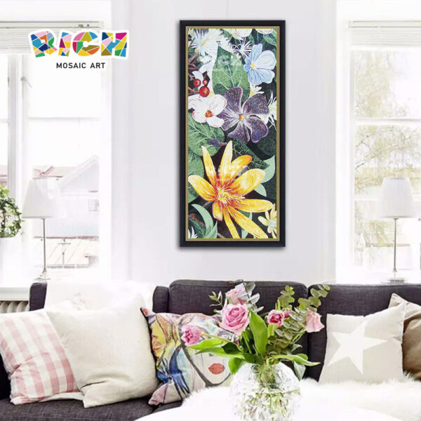 RM-FL46 Flower Glass Art Mosaic Idea