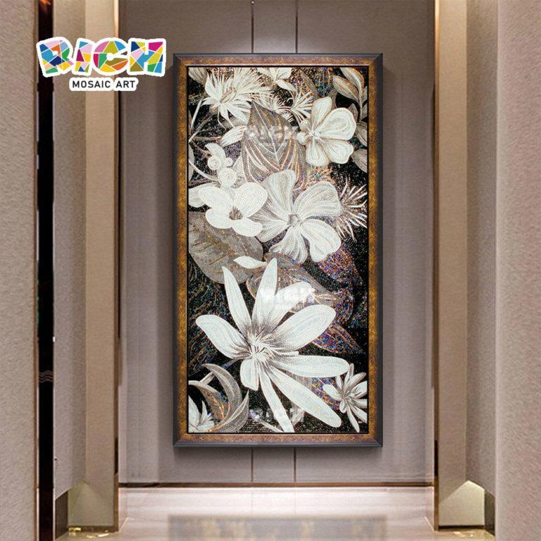 RM-FL47 sport motif à fleurs suspendus oeuvre mosaïque murale