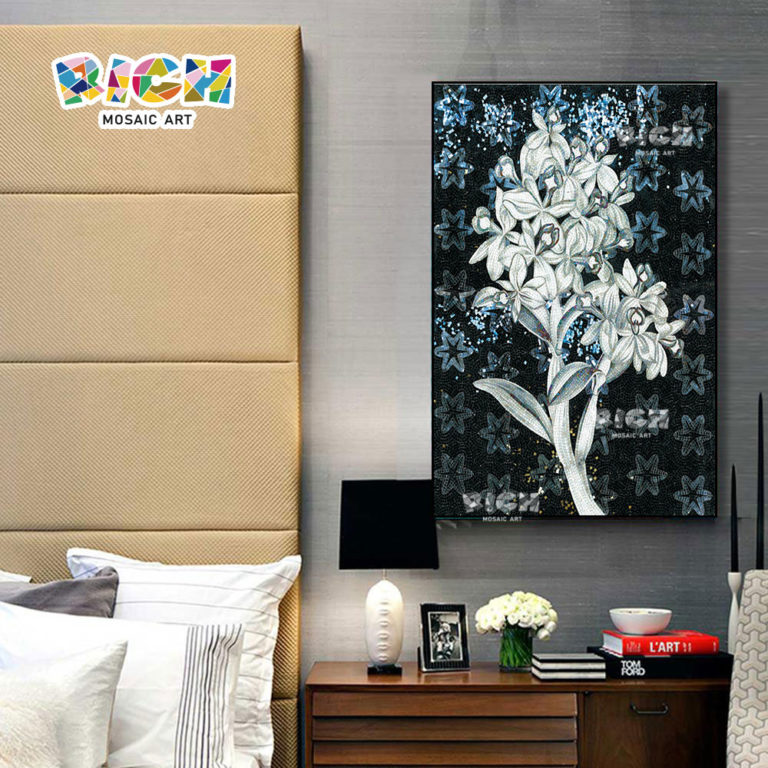 RM-FL48 Easy Flower Mosaic Pattern For Bedroom