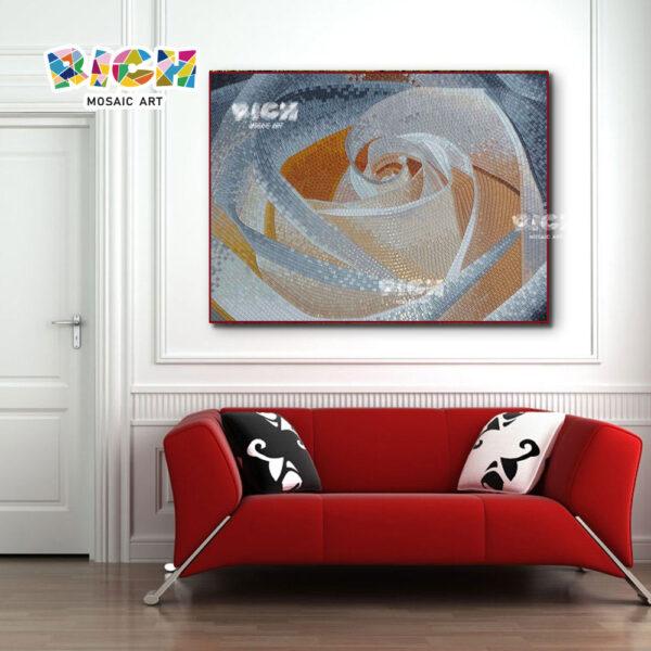 RM-FL53 Art Rose Muster Sofa Backsplash Glasmosaik