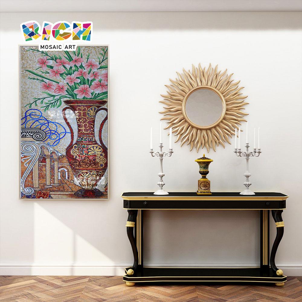 RM-FL58 Vase Design Pattern Mural Handcut Mosaic Art