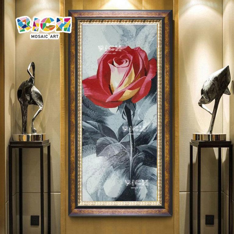 RM FL59 กุหลาบรูปแบบฝาผนังล็อบบี้ผนังโมเสค