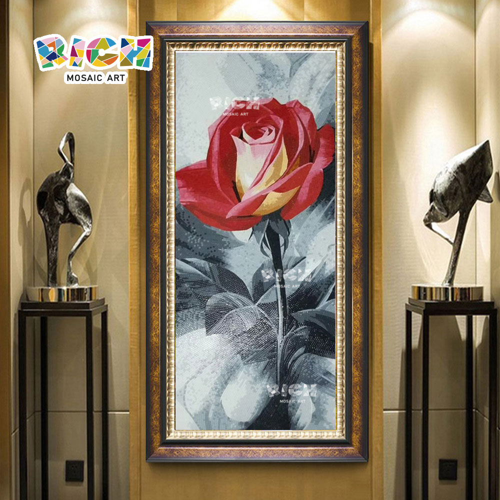 RM-FL59 Rose Muster Wandbild Lobby Mosaik Wall
