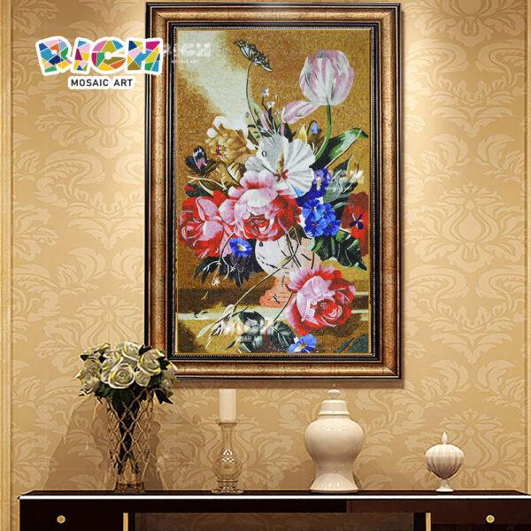 RM-FL63 flor patrón mosaico personalizado hecho de Arte Mural