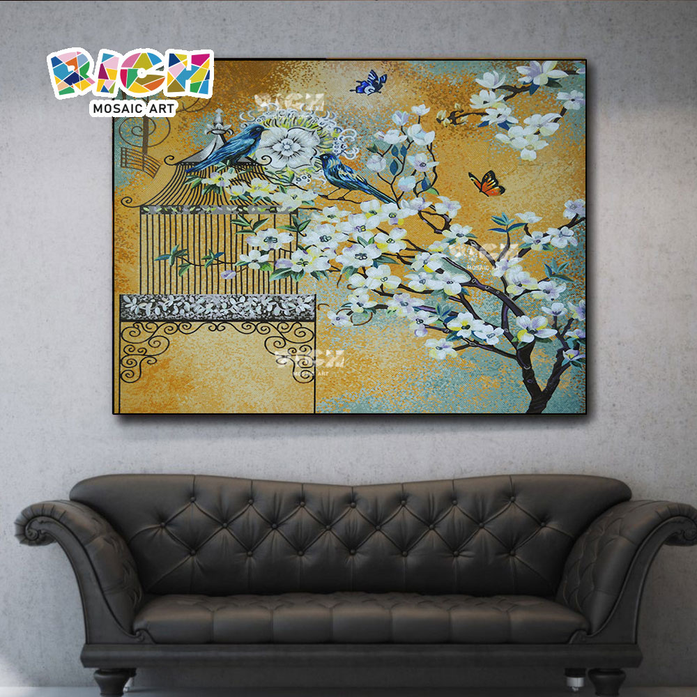 RM-FL64 Luxury Handmade Indoor Wall Decoration Mural