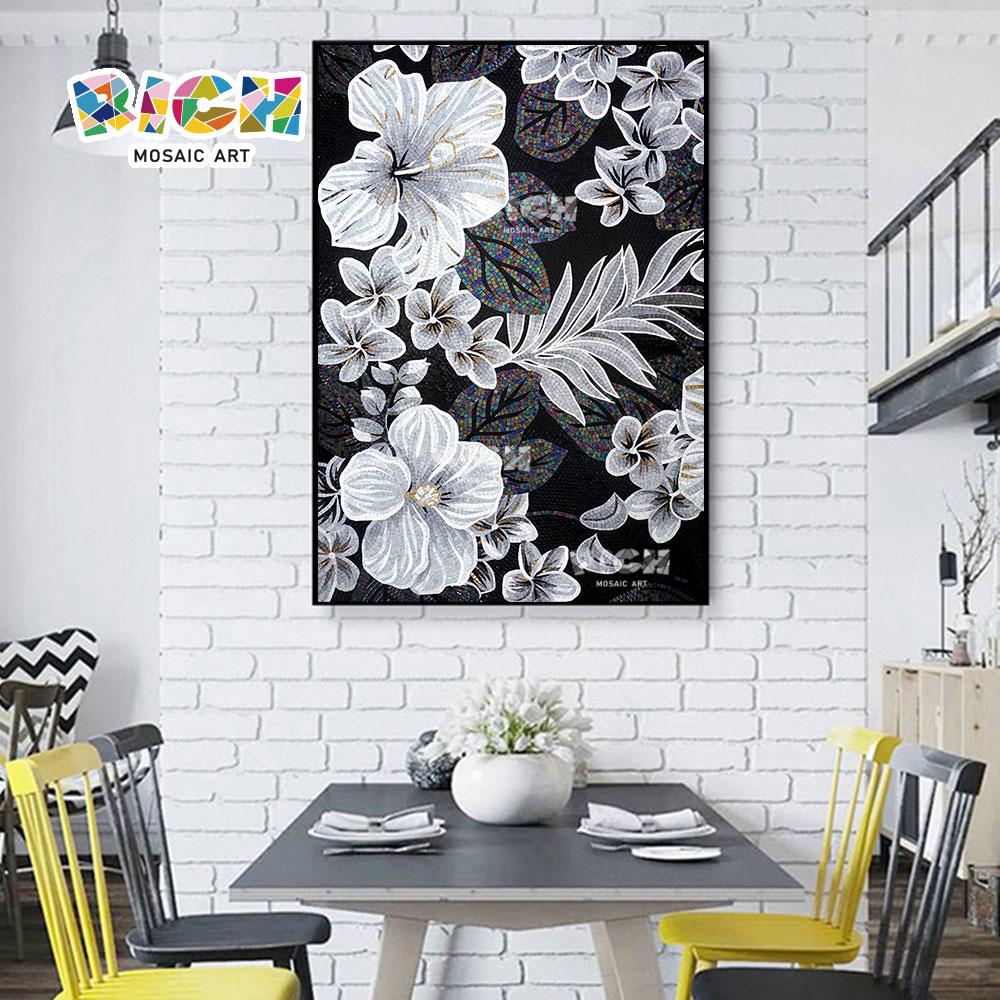 RM FL66 เย็นห้องผนัง Backsplash ดอกไม้ศิลปะจิตรกรรมฝาผนัง