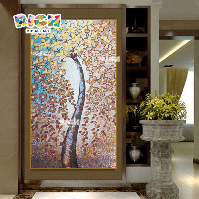 Искусство стены Backsplash RM-FL69 100% Мозаика ручной росписи