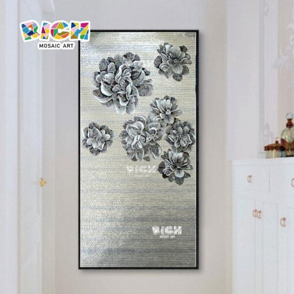 RM-FL71 bloem muurschildering Hot koop glas patroon mozaïek in goede prijs