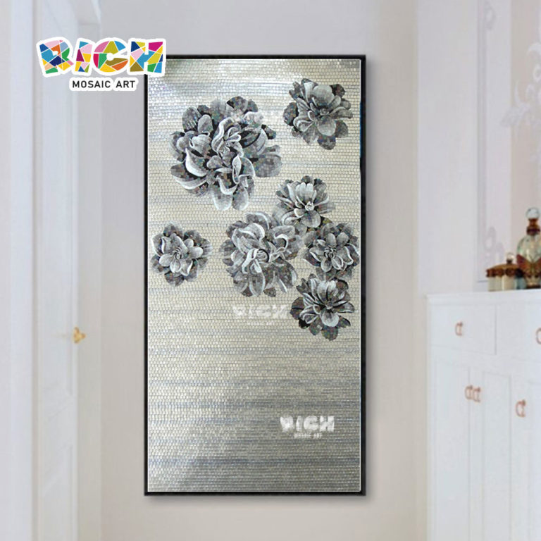 RM-FL71 Flower Mural Hot Sale Glass Pattern Mosaic In Good Price