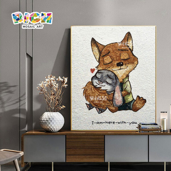 RM-AE02 Zootopia Fox And Rabbit Fine Mosaic Hanging