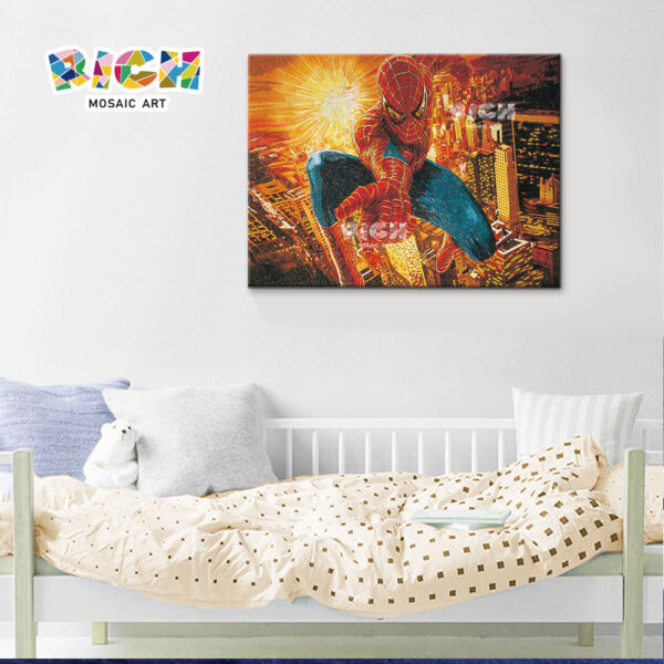 RM-AE03 Spider Man Comic Children's Room Wall Decoration Mosaic