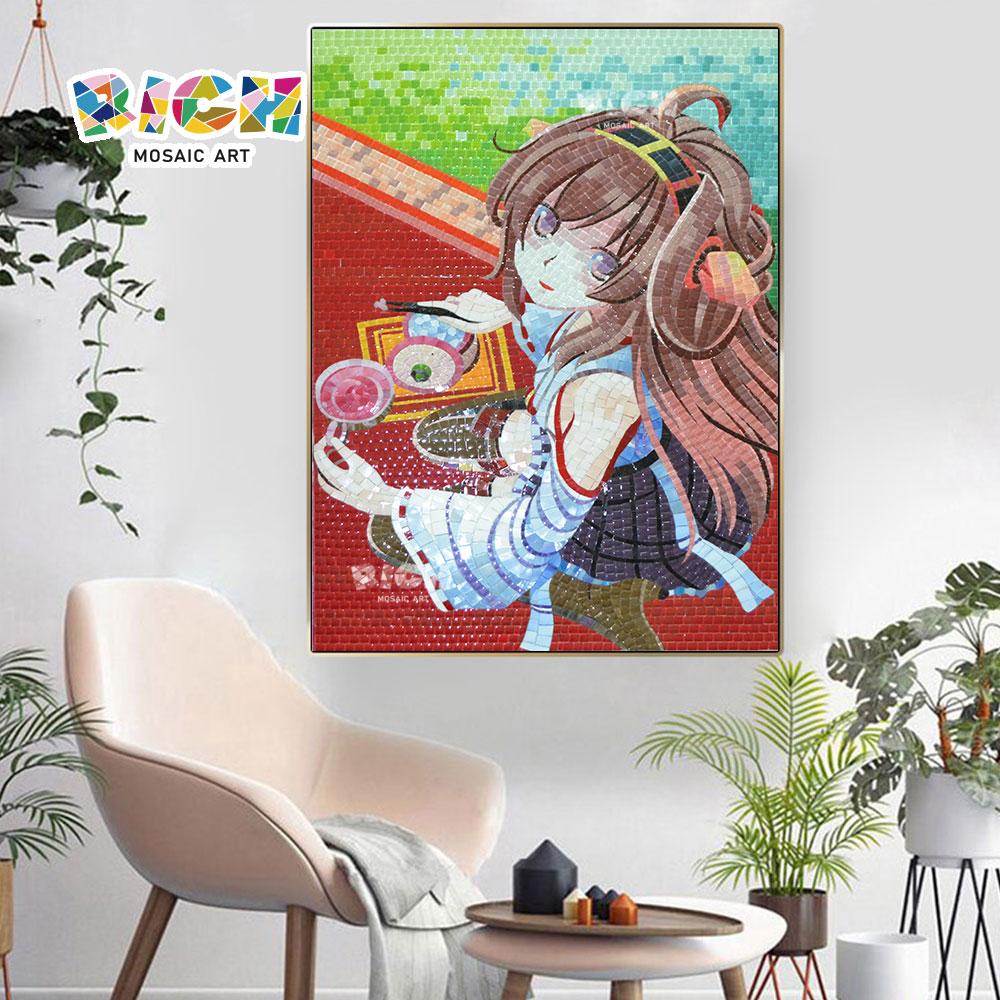 RM-AE07 Japanese Cute Anime Girl Crystal Mosaic