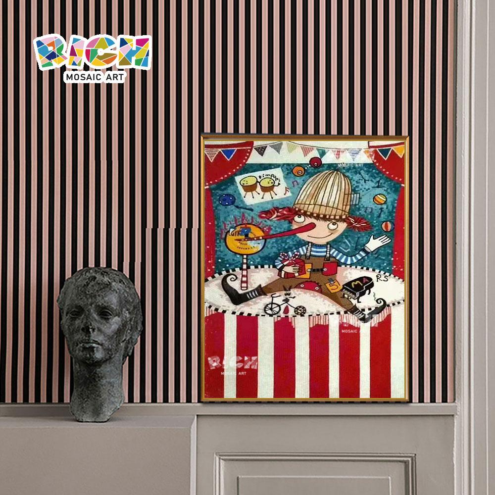 RM AE08 พินอคคิโอลายโมเสกภาพศิลปะภาพวาดโครง