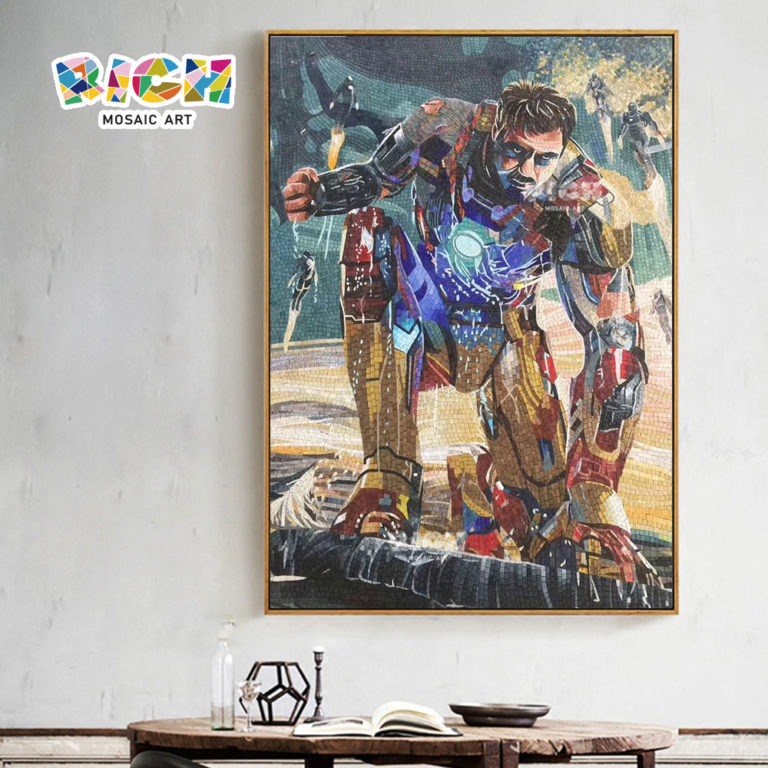 RM-AE12 Marvel Iron Man Dining Room Wall Decorated Mosaic