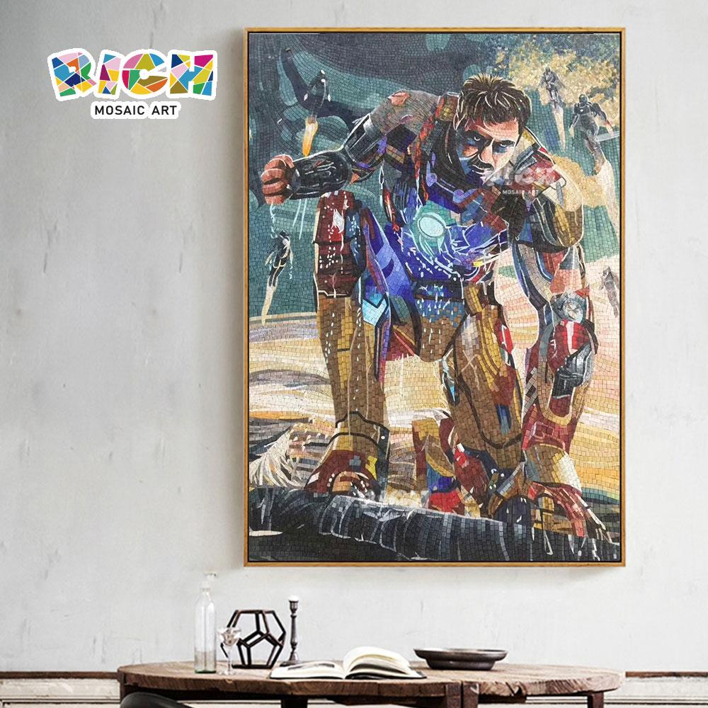 RM-AE12 Marvel ferro homem sala parede decorada mosaico