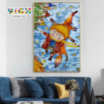RM-AE14 Children And Fox Fly Cartoon Mosaic On Sale
