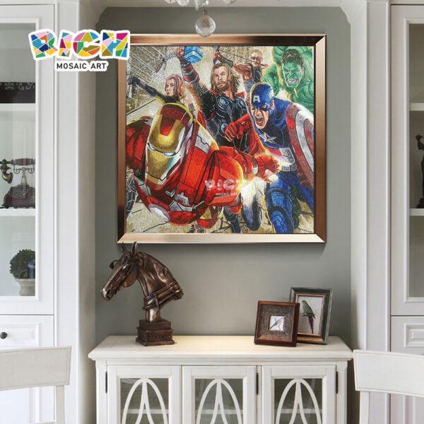 RM-AE15 Vengeurs mosaïque mosaïque murale, décoration de bureau