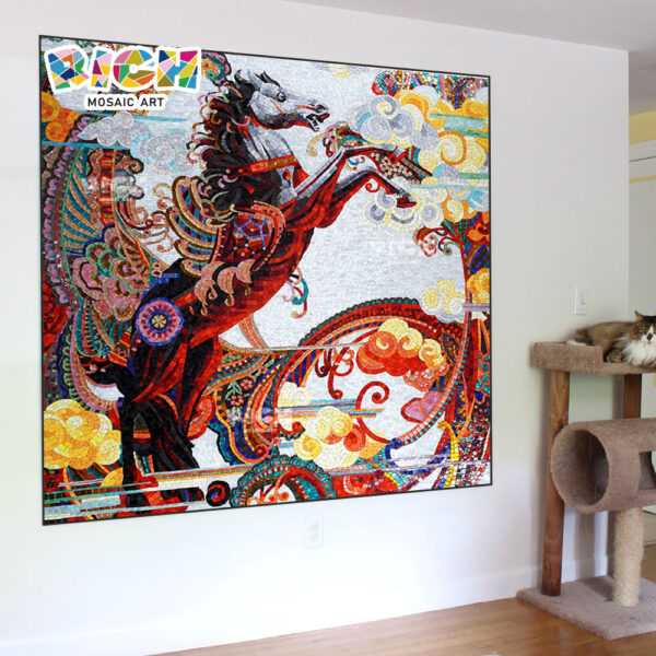 RM-AN02 War Horse Mosaic Mural Definition For Sale