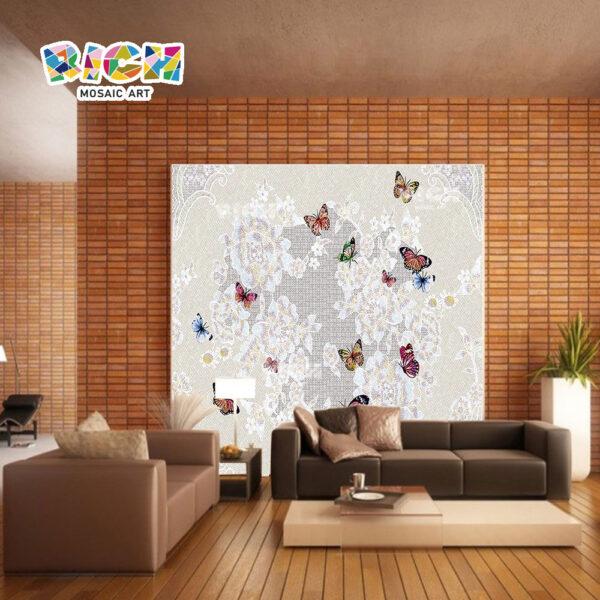 RM-AN07 mariposa patrón mosaico arte pared para vestíbulos