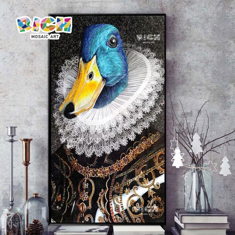 RM-AN11 Caballero Creativo Pato Pared Backsplash Mosaico Hobby Arte
