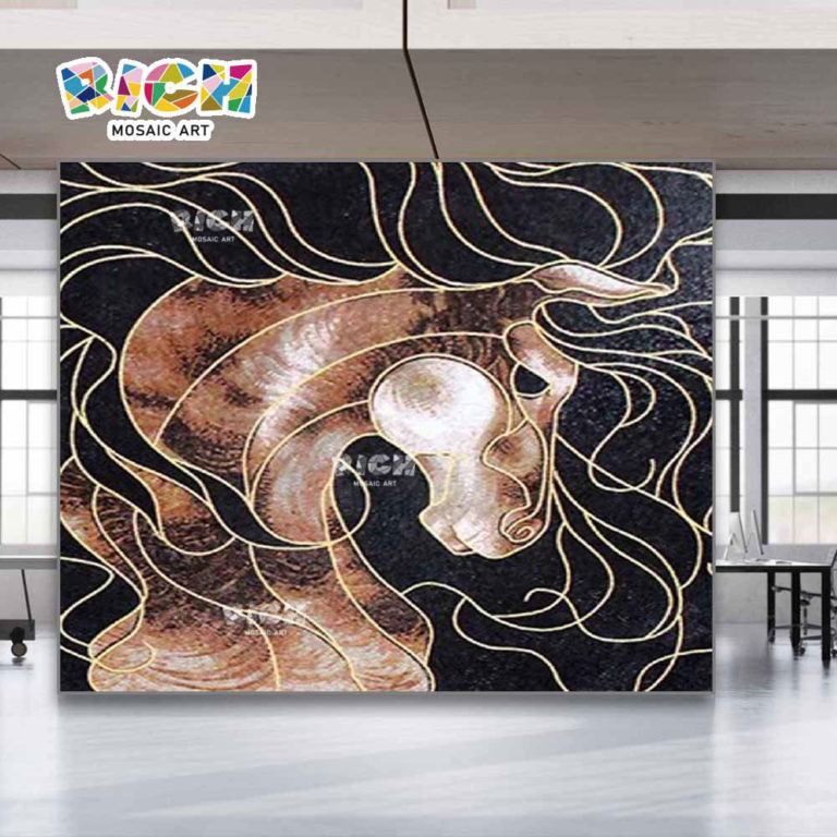 RM-AN13 Horse Pattern Office Mosaic Wall