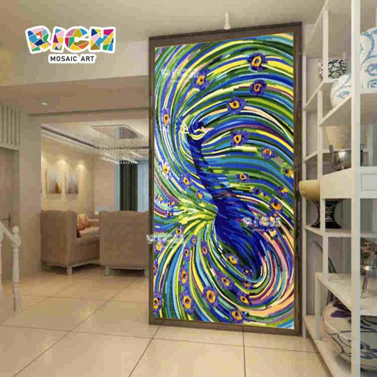 RM-AN18 Abstract Wall Art Peacock Design Hanging Mural