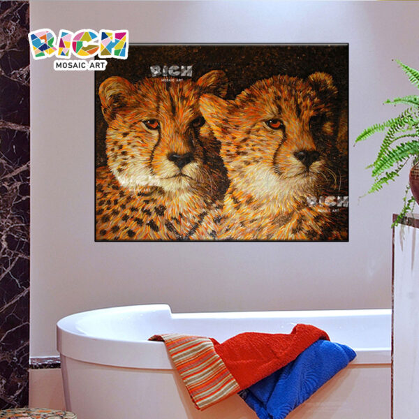 RM-AN27 Leopard Pattern Mosaic Tile From Bathroom Hanging Decorate