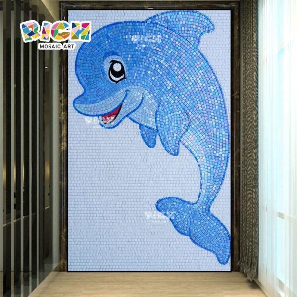 RM-AN28 golfinho padrão de parede piscina vestir sala decorar mosaico